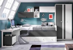 chambre ado garcon avec lit gigogne personnalisable f058 glicerio (1)