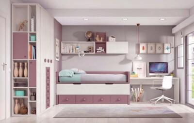 lit gigogne enfant avec 4 coffres de rangement personnalisable f004 glicerio