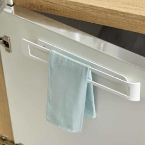 porte torchons fixe en acier vernis blanc mat